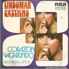 Discos de vinilo: LINDOMAR CASTILLO SINGLE SELLO RCA VICTOR AÑO 1973 EDITADO EN ESPAÑA PROMOCIONAL. Lote 62883124