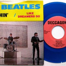 Discos de vinilo: THE BEATLES - SEARCHIN' / LIKE DREAMERS DO - SINGLE DECCAGONE 1976 USA (VINILO AZUL) BPY. Lote 62897752