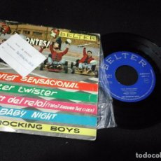 Discos de vinilo: MUSICA SINGLE THE ROCKING BOYS TWIST SENSACIONAL + 3 TEMAS 1962 OA.E. Lote 120484679