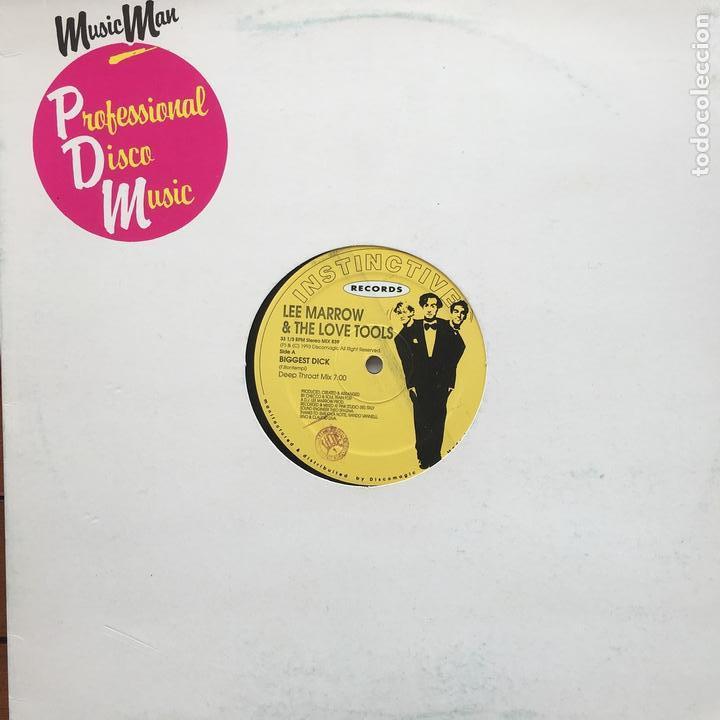 LEE MARROW & THE LOVE TOOLS - BIGGEST DICK . MAXI SINGLE . 1993 ITALY (Música - Discos de Vinilo - Maxi Singles - Disco y Dance)