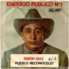 Discos de vinilo: SIMON DIAZ CON HUGO BLANCO Y SU CONJUNTO – LAS LOCAS - SG US 1975 - ALL ART 664. Lote 62956032