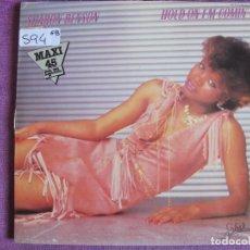 Dischi in vinile: MAXI - SHARON BENSON - HOLD ON I'M COMIN / IN YOUR EYES (PROMO ESPAÑOL, SPLASH RECORDS 1983). Lote 62997996