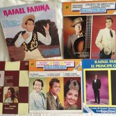 Discos de vinilo: RAFAEL FARINA PRINCIPE GITANO, JUANITO VALDERRAMA, DOLORES ABRIL, 5 DISCOS. Lote 63020387