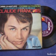 Discos de vinilo: CLAUDE FRANCOIS COMME D`HABITUDE +3 PHILIPS EP FRANCE . Lote 63026656