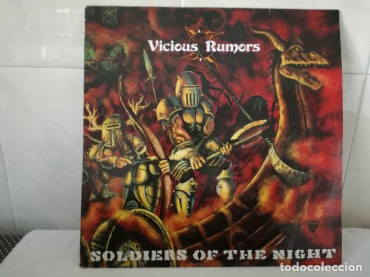 VICIOUS RUMORS - SOLDIERS OF THE NIGHT LP RR 9734 NETHERLANDS 1985 (Música - Discos - LP Vinilo - Heavy - Metal)