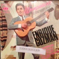 Discos de vinilo: ENRIQUE GUZMAN: B.S.O ACOMPAÑAME- + 3 TEMAS - CBS EP-6142 (1.966). Lote 63093100