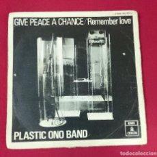 Discos de vinilo: PLASTIC ONO BAND - GIVE PEACE A CHANCE. Lote 63158772