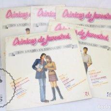 Discos de vinilo: 5 DISCOS LP VINILO - CRÓNICAS DE JUVENTUD. LOS JÓVENES EN ESPAÑA 1940-1985 - HISPAVOX, AÑO 1985. Lote 63180296