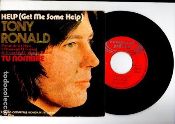 TONY RONALD - HELP & TU NOMBRE - MOVIE PLAY SN-20556 / 1971 (Música - Discos - Singles Vinilo - Otros estilos)