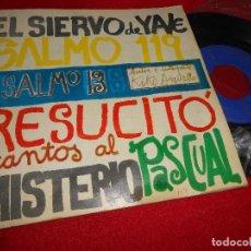 Discos de vinilo: KIKO ARGÜELLO EL SIERVO DE YAVE/SALMO 1-19 ..+2 7 EP 1967 PAX NEOCATECUMENAL ARGUELLO. Lote 63253672