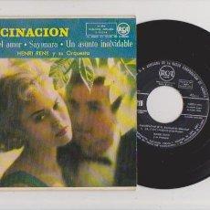 Discos de vinilo: FASCINACION - HENRI RENE & ORQUESTA - RCA 3-20218 / 1958. Lote 63286004