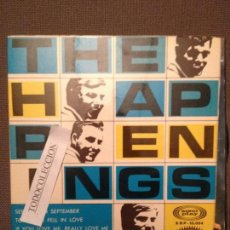 Discos de vinilo: THE HAPPENINGS: SEE YOU IN SEPTEMBER,TONIGHT I FELL IN LOVE + 2 SONOPLAY ED. ESPAÑA EP 1967. Lote 63291196