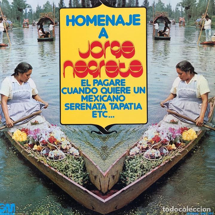 ROBERTO FRANCO CON EL MARIACHI AGUILAS DE MEXICO - HOMENAJE A JORGE NEGRETE . LP . 1974 GRAMUSIC (Música - Discos - LP Vinilo - Grupos y Solistas de latinoamérica)