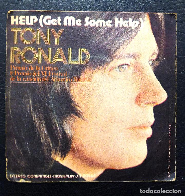 SINGLE TONY RONALD - HELP - MOVIE PLAY 1971. (Música - Discos - Singles Vinilo - Otros estilos)