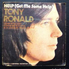 Discos de vinilo: SINGLE TONY RONALD - HELP - MOVIE PLAY 1971.. Lote 63335228