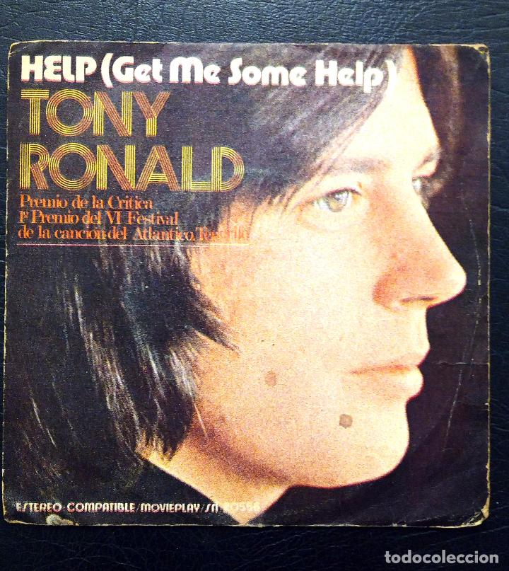 Discos de vinilo: SINGLE TONY RONALD - HELP - MOVIE PLAY 1971. - Foto 2 - 63335228
