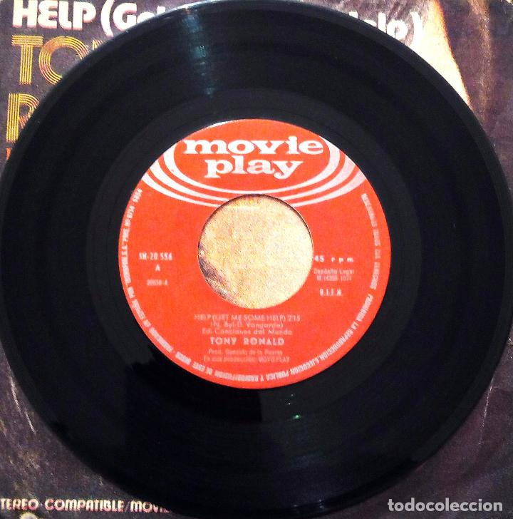 Discos de vinilo: SINGLE TONY RONALD - HELP - MOVIE PLAY 1971. - Foto 3 - 63335228