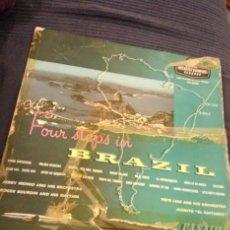 Discos de vinilo: FOUR STOPS IN BRAZIL. Lote 63346308