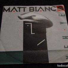 Discos de vinilo: MATT BIANCO ( YEH YEH - SMOOTH ) 1985 - GERMANY SINGLE45 WEA. Lote 63375372