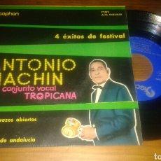 Discos de vinilo: ANTONIO MACHIN Y EL CONJUNTO VOCAL TROPICANA:CON LOS BRAZOS ABIERTOS+3 (EP.1960). Lote 63391660