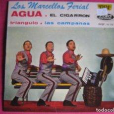Discos de vinilo: LOS MARCELLOS FERIAL EP VOGUE DURIUM AGUA/ EL CIGARRON/ TRIANGULO/ LAS CAMPANAS . Lote 63438048