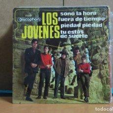 Discos de vinilo: LOS JOVENES - SONO LA HORA / FUERA DE TIEMPO / PIEDAD PIEDAD / TU ESTAS DE SUERTE - DISCOPHON 27508. Lote 63447996