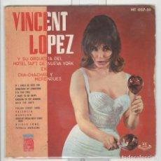 Discos de vinilo: VINCENT LOPEZ Y SU ORQUESTA DEL HOTEL TAFT. MGM HISPAVOX 1962. EP. Lote 63510308