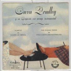 Discos de vinilo: OWEN BRADLEY Y SU ORQUESTA. MORITAT ITALIAN THEME. COLUMBIA 1958. EP BUENO. Lote 63511324
