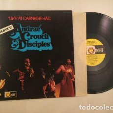 Discos de vinilo: ANDRAE CROUCH AND THE DISCIPLES - LIVE AT CARNEGIE HALL SOLD OUT 73, RARO SOUL, ORG USA, IMPECABLE. Lote 63536880