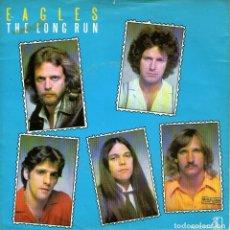 Discos de vinilo: EAGLES - SINGLE VINILO 7'' - THE LONG RUN + THE DISCO STRANGLER - EDITADO EN HOLANDA - ASYLUM 1979. Lote 63542292