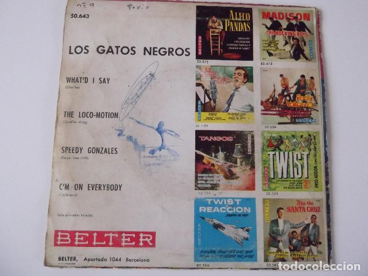 Discos de vinilo: LOS GATOS NEGROS - What'd I Say - Foto 2 - 63547132
