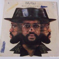 Discos de vinilo: BILLY PAUL - YO Y LA SRA. JONES. Lote 63548172