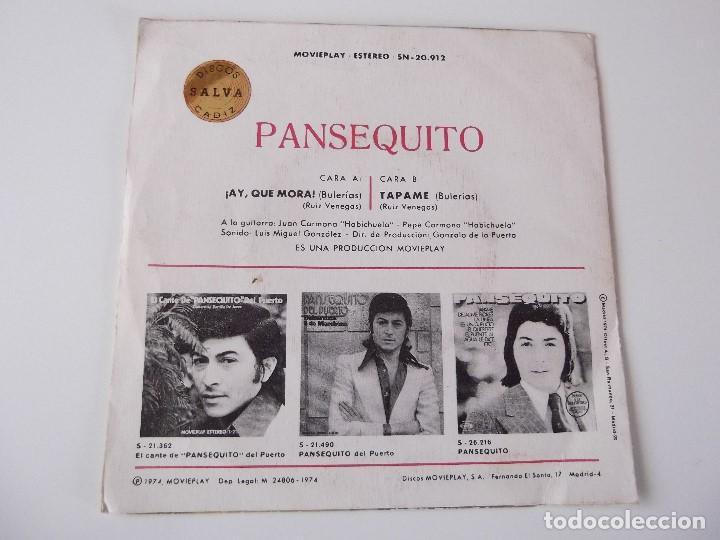 Discos de vinilo: PANSEQUITO - ¡Ay, que mora! - Foto 2 - 63548436