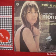 Discos de vinilo: GILES MARCHAL & MARTINE HABIB- WHERE DO PEOPLE GO. SINGLE AZ 1970.. Lote 63549144