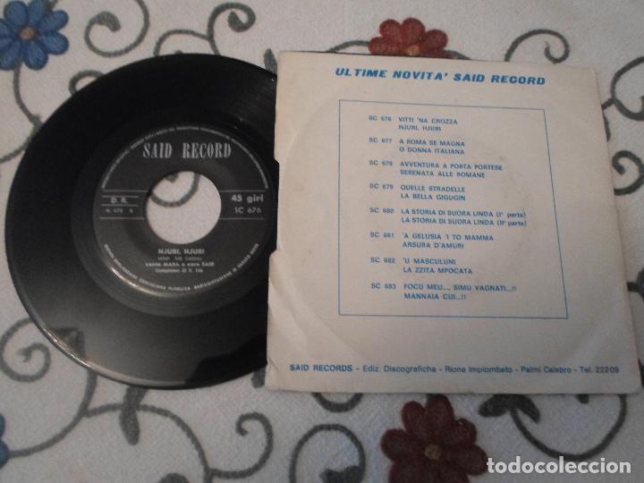Discos de vinilo: MARA E CORO SAID - VITTI NA CROZZA / HJURI ,HJURI - Foto 2 - 63564236
