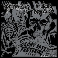 Discos de vinilo: INTERMENT / BRUTALLY DECEASED-DEATH METAL DISMEMBER ENTOMBED. Lote 63564900
