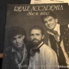 Discos de vinilo: REALE ACCADEMIA SONIDO SUEÑO LLAMADO MUJER ( SHE'S MINE) SINGLE ESPAÑA HOJA PROMO ITALO DISCO (EPI3). Lote 63594316