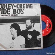 Discos de vinilo: GODLEY & CREME WIDE BOY SINGLE SPAIN 1980 PDELUXE. Lote 63603856