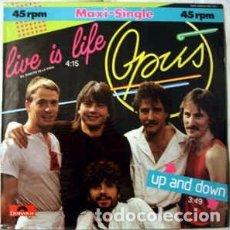 Discos de vinilo: OPUS - LIVE IS LIFE. Lote 63603860
