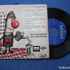 Discos de vinilo: GILA GILA BOMBERO / DISTRAIDO SINGLE SPAIN 1965 PDELUXE. Lote 63603952