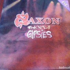 Discos de vinilo: SAXON ROCK N´ ROLL GYPSIES LIVE. Lote 63614427