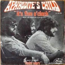 Discos de vinilo: APHRODITE'S CHILD : IT'S FIVE O'CLOCK [ESP 1970] 7'. Lote 63616103