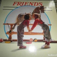 Discos de vinilo: FRIENDS DOBLE LP - VARIOUS ARTISTS - EDICION INGLESA - TELLYDISC 1982 - GATEFOLD - MUY NUEVO (5). Lote 63617539