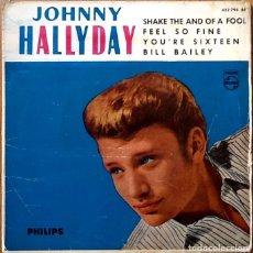 Discos de vinilo: JOHNNY HALLYDAY : SHAKE THE HAND OF A FOOL [ESP 1962] EP 7'. Lote 97901723