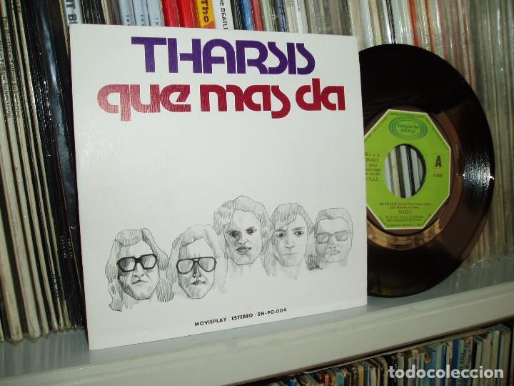 THARSIS SG - QUÉ MÁS DÁ/ PERRO CALLEJERO - MOVIEPLAY 1975 (Música - Discos de Vinilo - Maxi Singles - Grupos Españoles de los 70 y 80)