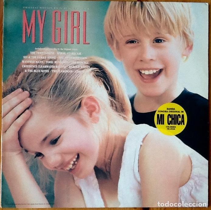 V / A : BSO MY GIRL [ESP 1991] LP SLY & FAMILY STONE, TEMPTATIONS, T. RUNDGREN, CREEDENCE C. REVIVAL (Música - Discos - LP Vinilo - Bandas Sonoras y Música de Actores )