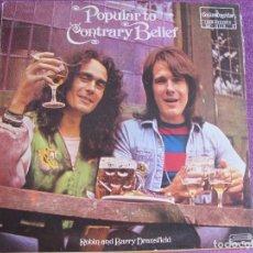 Discos de vinilo: LP - ROBIN AND BARRY DRANSFIELD-POPULAR TO CONTRARY BELIEF (SPAIN, GUIMBARDA 1981, CONTIENE LIBRETO). Lote 63673219