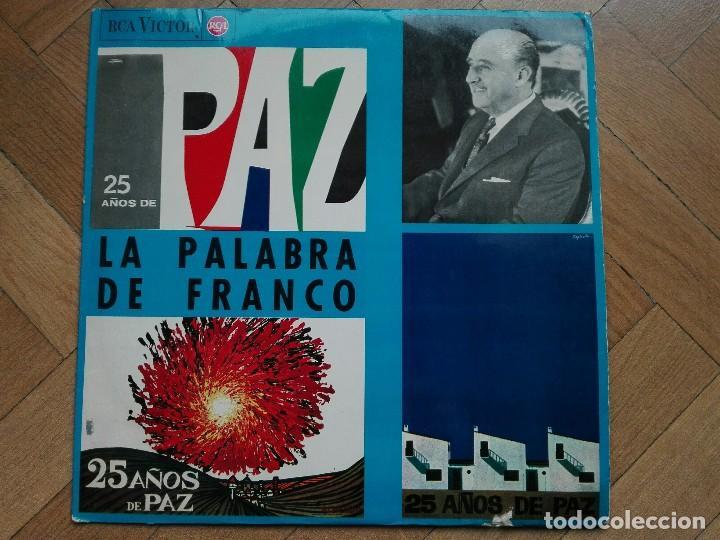 DISCO LP VINILO LA PALABRA DE FRANCO - 25 AÑOS DE PAZ - 1964 SPAIN (Música - Discos - LP Vinilo - Otros estilos)
