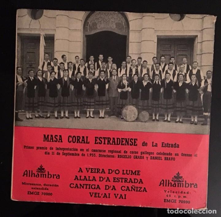 MASA CORAL ESTRADENSE - A VEIRA DO LUME - (Música - Discos de Vinilo - EPs - Otros estilos)