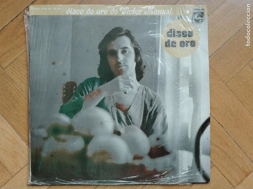 DISCO VINILO LP VICTOR MANUEL DISCO DE ORO 1977 (Música - Discos de Vinilo - Maxi Singles - Solistas Españoles de los 70 a la actualidad)